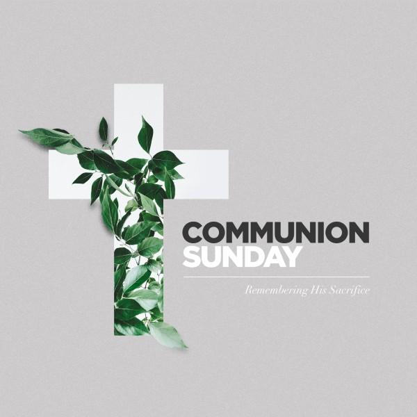 Communion Sunday Cross Social Media Graphic