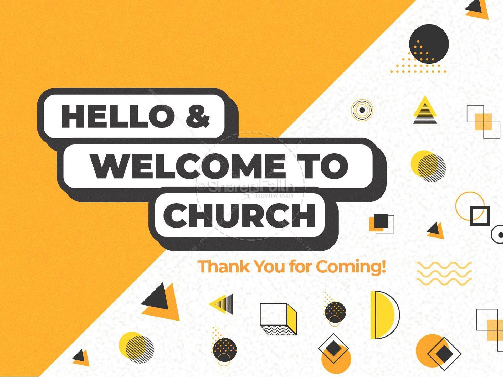 Pastor Appreciation Yellow Church PowerPoint