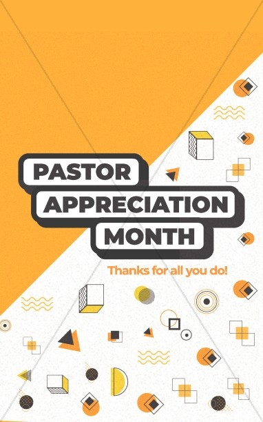 Pastor Appreciation Yellow Bifold Bulletin