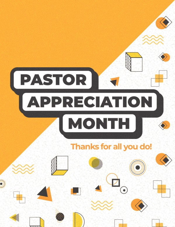 Pastor Appreciation Yellow Church Flyer