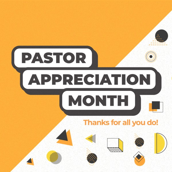 Pastor Appreciation Yellow Social Media Graphic