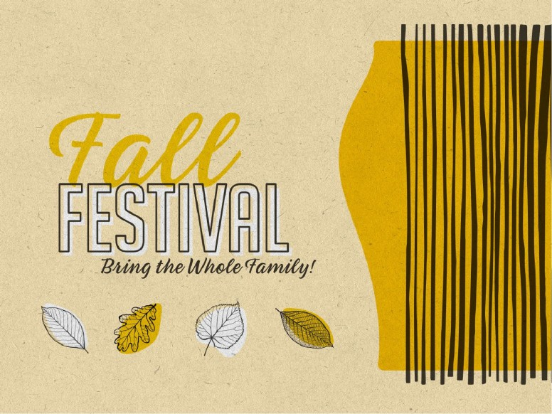 Fall Festival Leaves Church PowerPoint