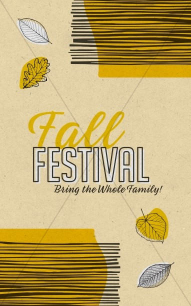 Fall Festival Leaves Church Bifold Bulletin