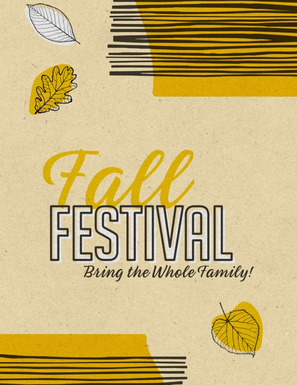 Fall Festival Leaves Church Flyer