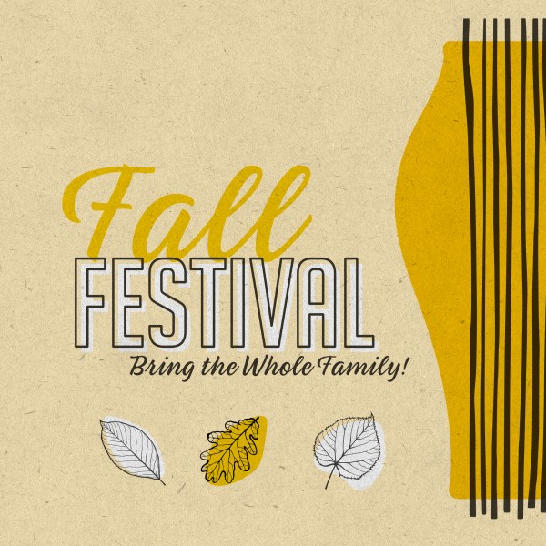 Fall Festival Leaves Social Media Graphic