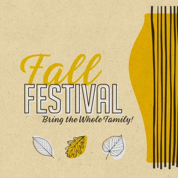 Fall Festival Leaves Social Media Graphic