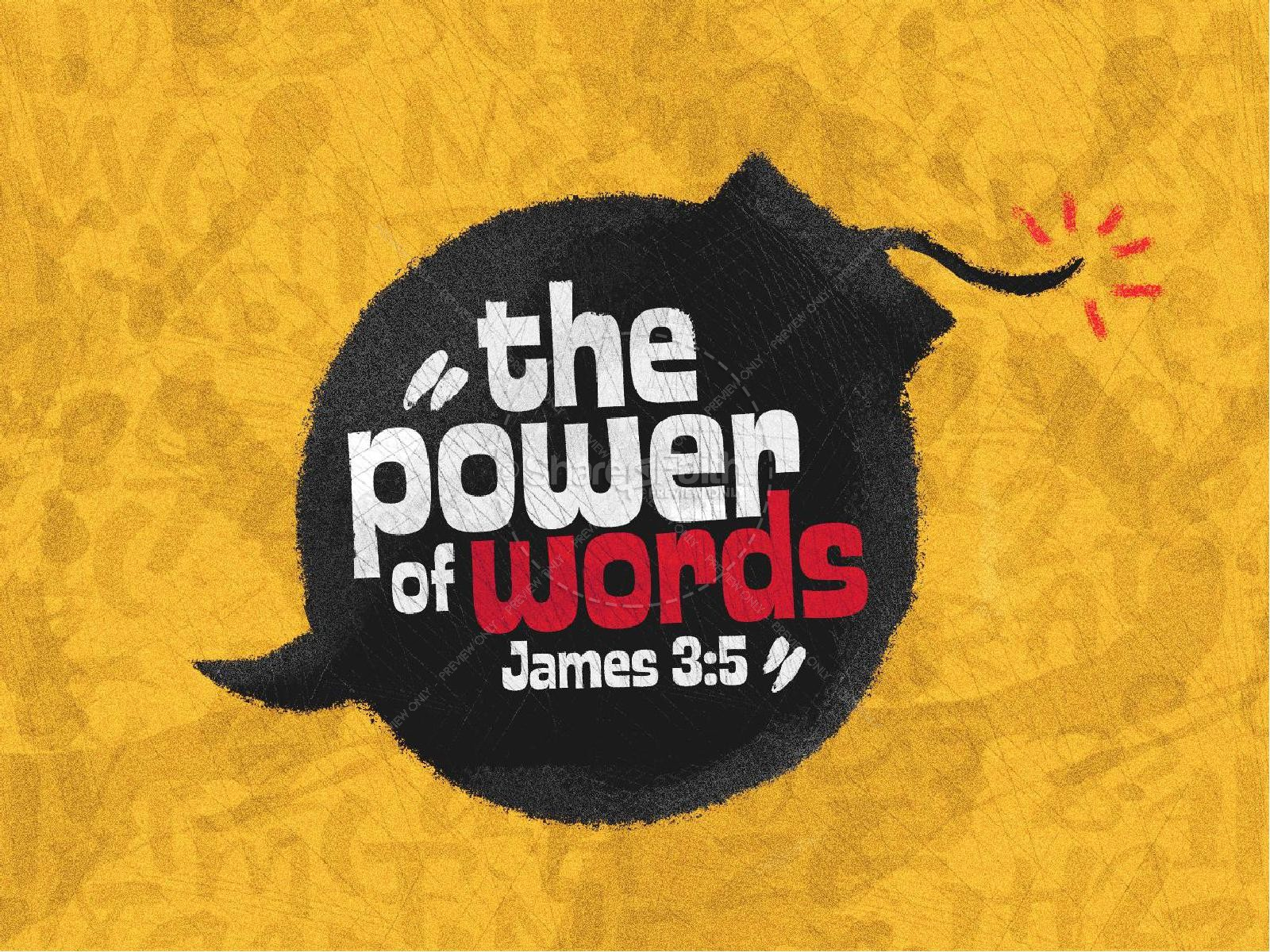 Power Of Words Church PowerPoint