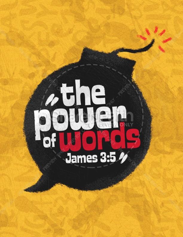 Power Of Words Church Flyer