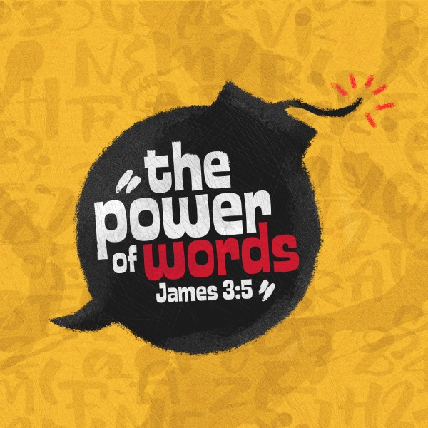 Power Of Words Social Media Graphic