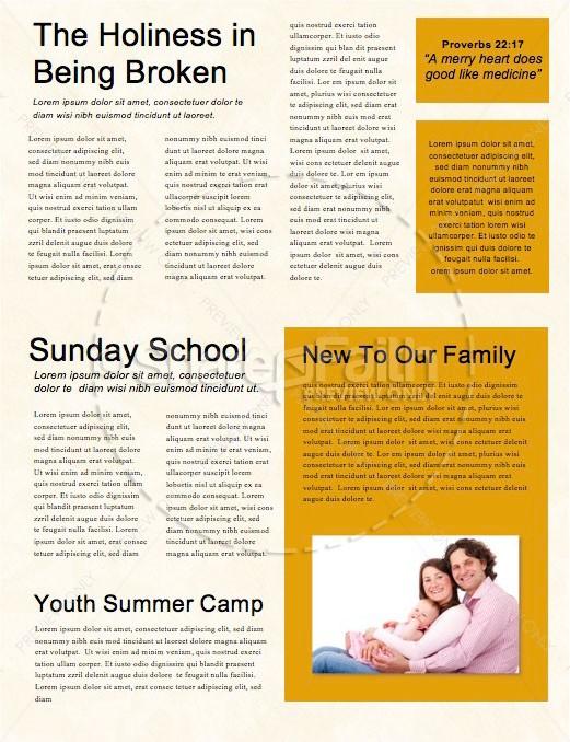 Power Of Words Church Newsletter