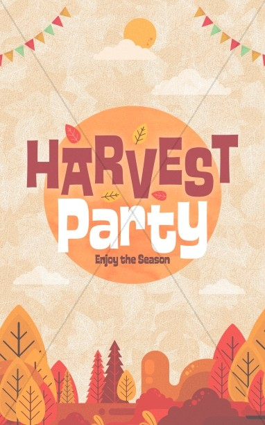 Autumn Harvest Party Church Bifold Bulletin