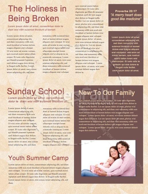 Autumn Harvest Party Church Newsletter