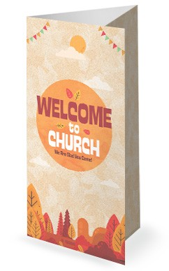 Autumn Harvest Party Church Trifold Bulletin