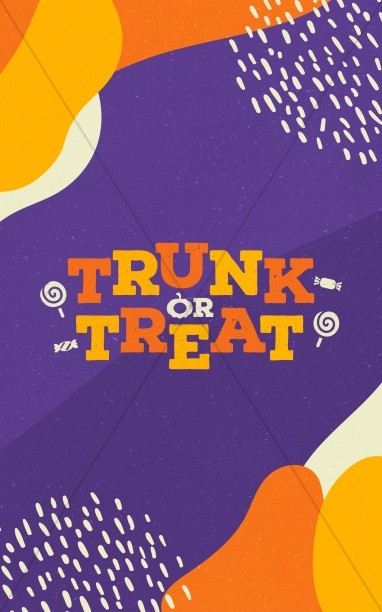 Purple Trunk Or Treat Church Bifold Bulletin