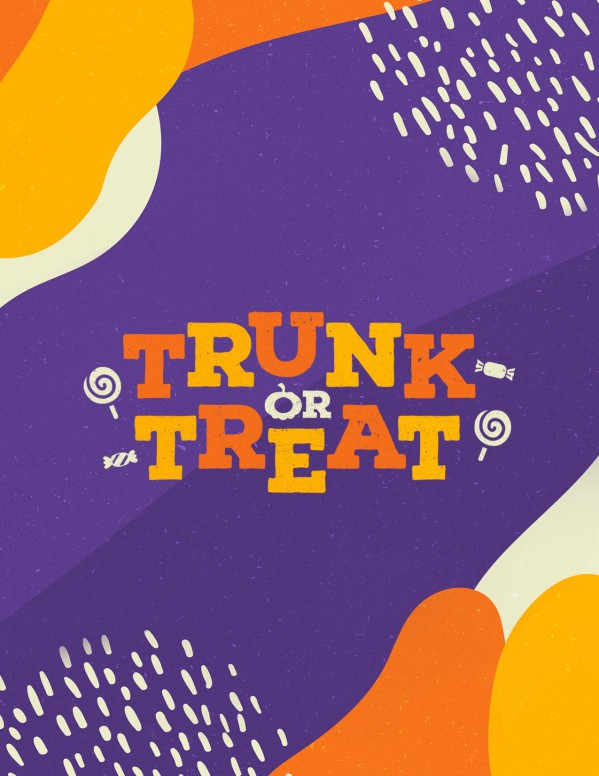 Purple Trunk Or Treat Church Flyer