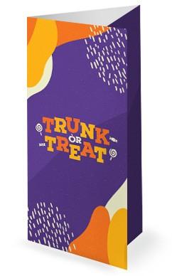 Purple Trunk Or Treat Church Trifold Bulletin