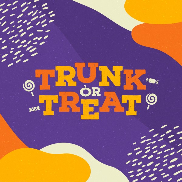 Purple Trunk Or Treat Church Social Media Graphic