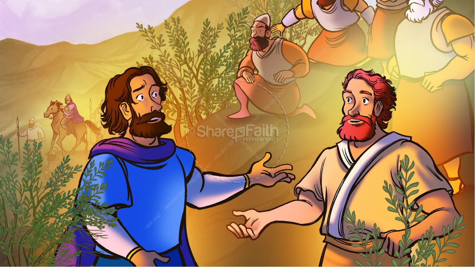 1 Samuel 23 24 David Spares Saul Kids Bible Story