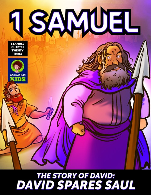 1 Samuel 23 24 David Spares Saul Digital Comic