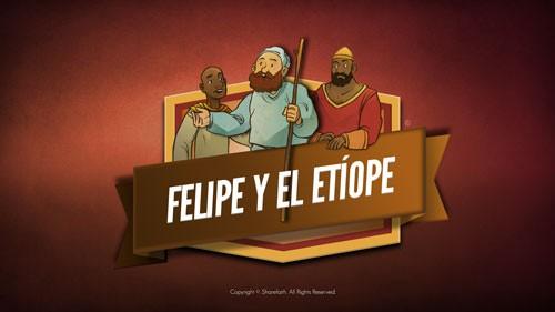 Hechos 8 Felipe y el video de la Biblia etíope para niños