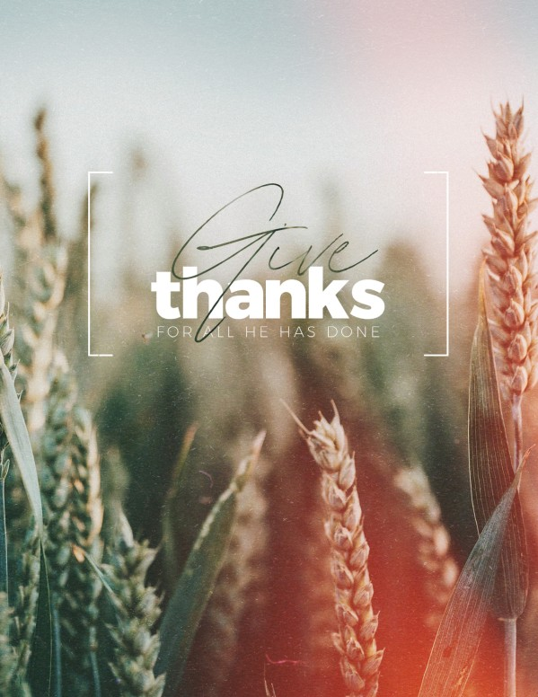 Give Thanks Field Church Flyer
