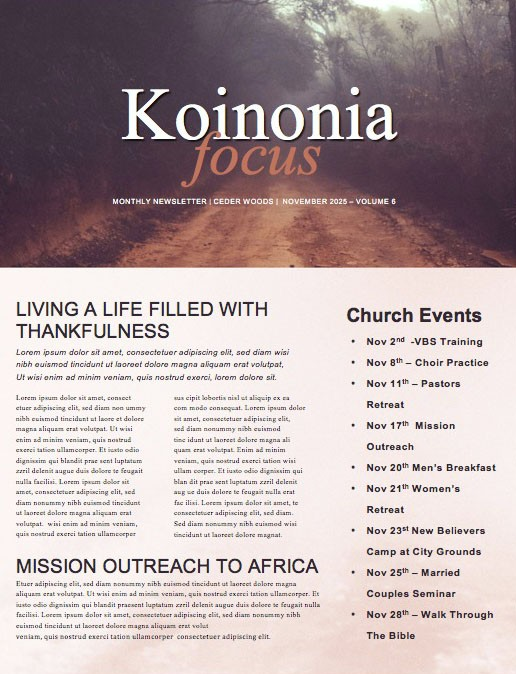 I Am Church Newsletter
