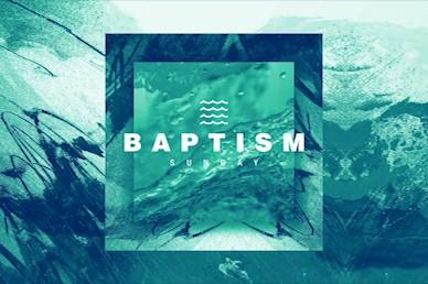 Baptism Sunday Green Title Church Video