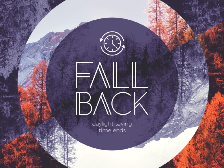 Fall Back Purple Church PowerPoint
