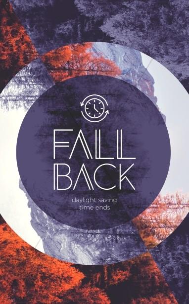 Fall Back Purple Church Bifold Bulletin