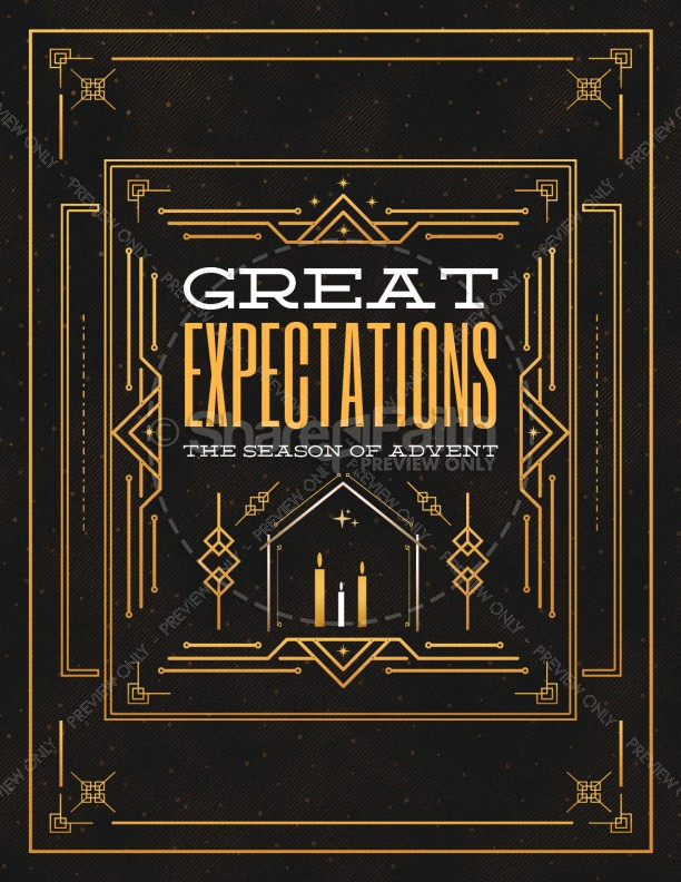 Advent Great Expectations Church Flyer