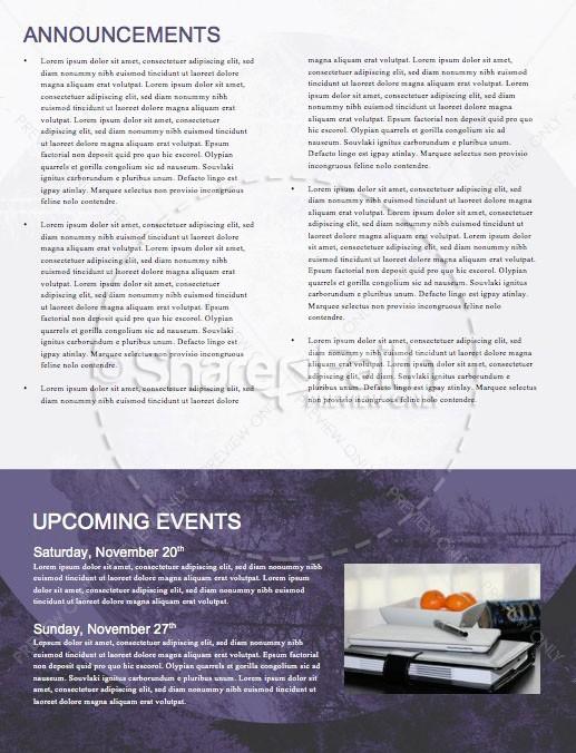 Fall Back Purple Church Newsletter