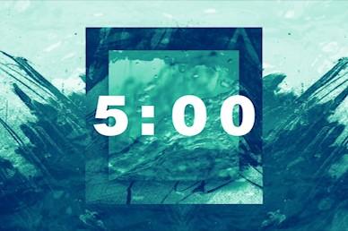 Baptism Sunday Green Countdown Church Video