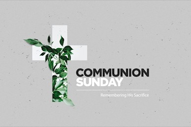 Communion Sunday Cross Title Church Video