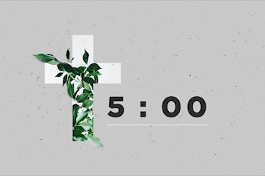 Communion Sunday Cross Countdown Church Video