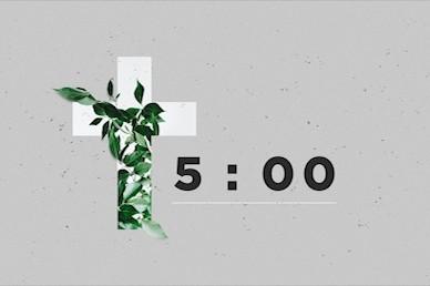 Communion Sunday Cross Countdown Church Video