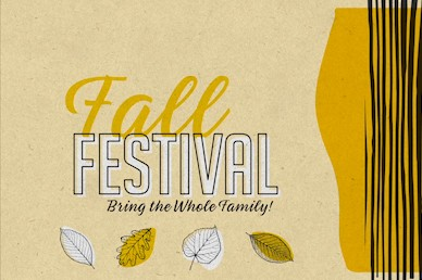 Fall Festival Leaves Church Title Video