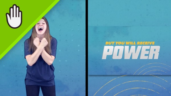Power Kids Worship Video Hand Motions Split Screen