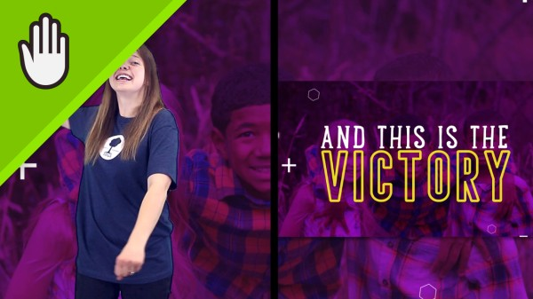 The Victory Kids Worship Video Hand Motions Split Screen