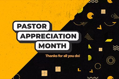 Pastor Appreciation Yellow Title Church Video