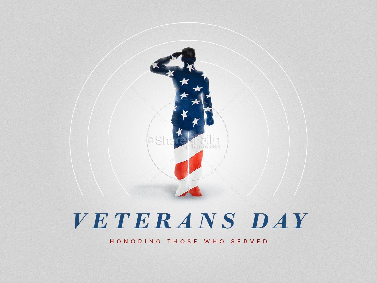 Veteran's Day Soldier Church PowerPoint   slide 1