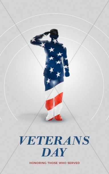 Veteran's Day Soldier Church Bifold Bulletin
