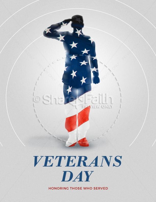 Veteran's Day Soldier Church Flyer