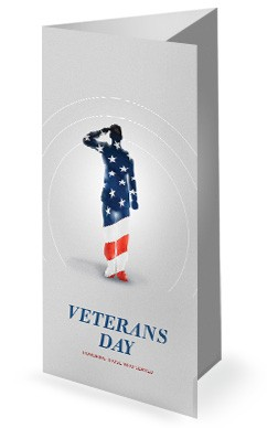 Veteran's Day Soldier Church Trifold Bulletin