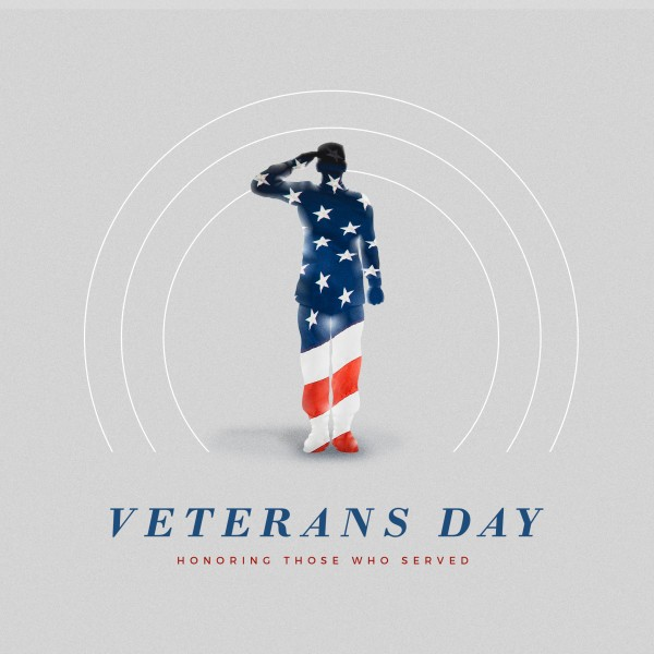 Veteran's Day Soldier Church Social Media Graphic