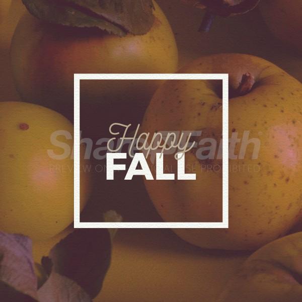 Happy Fall Apple Social Media Graphic