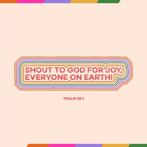 Shout For Joy Social Media Graphic