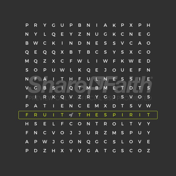Word Search Social Media Graphic