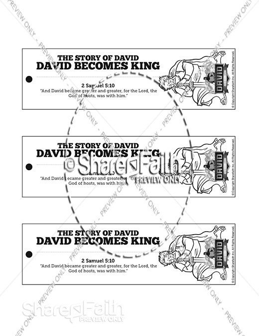 2 Samuel 5 David Becomes King Bible Bookmarks