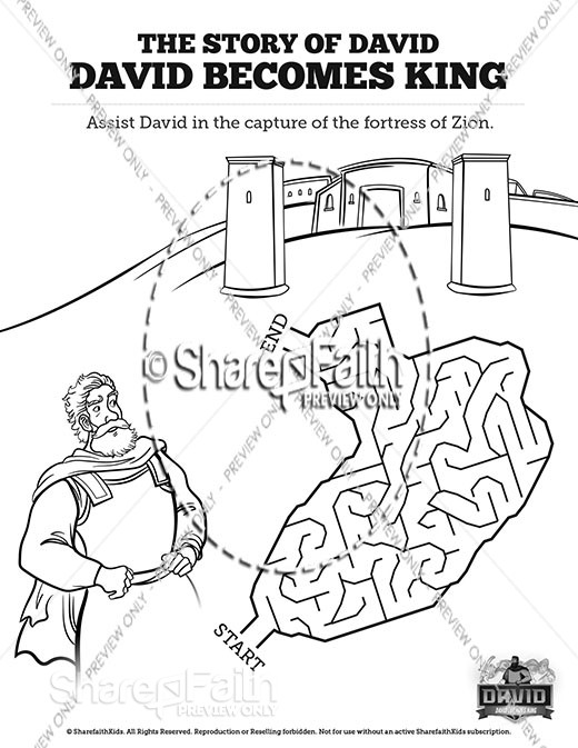 2 Samuel 5 David Becomes King Bible Mazes