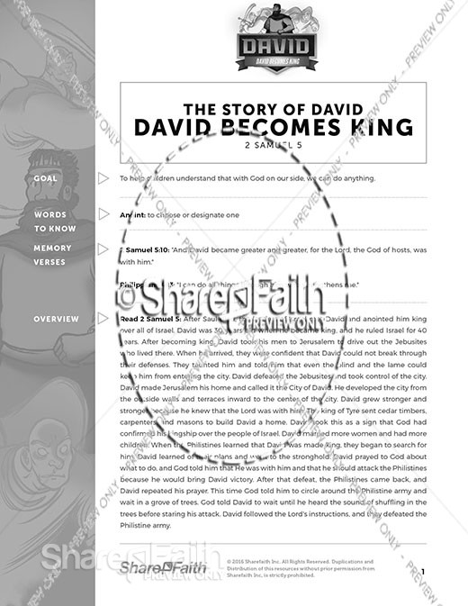 2 Samuel 5 David Becomes King Curriculum